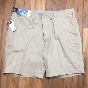 Cremieux Madison Light Twill Tan Khaki Golf Shorts